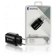 USB lader 1000mA zwart